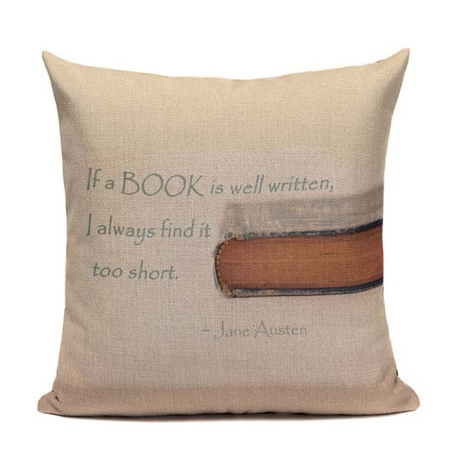 Cat Happy Reading More Book Cushion Cover - pillow cover - 99fab.com