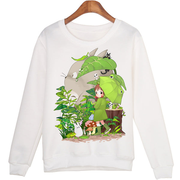 Casual 3D Totoro Print Sweatshirt Tops For Women - women clothing - 99fab.com
