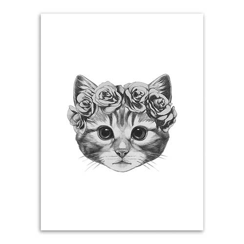 Hand Draw Animals Art Print Painting Poster - art - 99fab.com