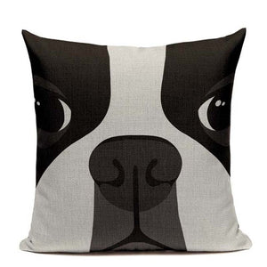 boston terrier Cushion Pillow Case - pillow cover - 99fab.com