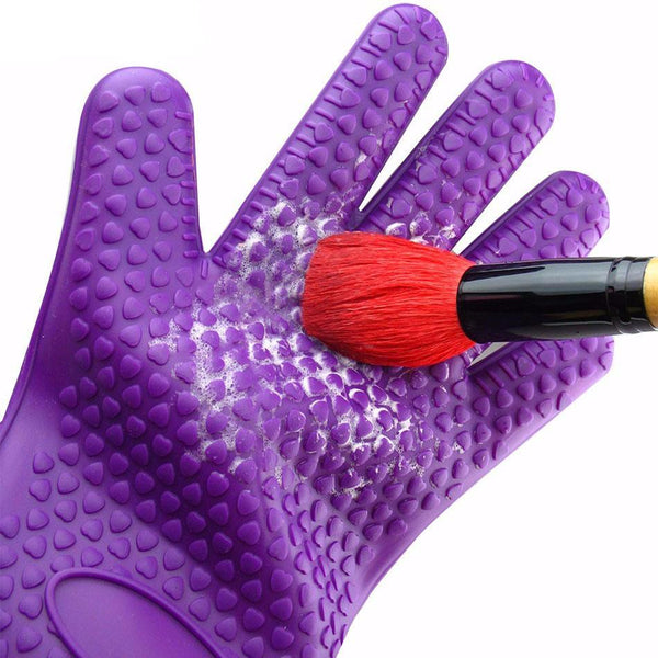 Silicone Cosmetics Makeup Brush Cleanser Glove