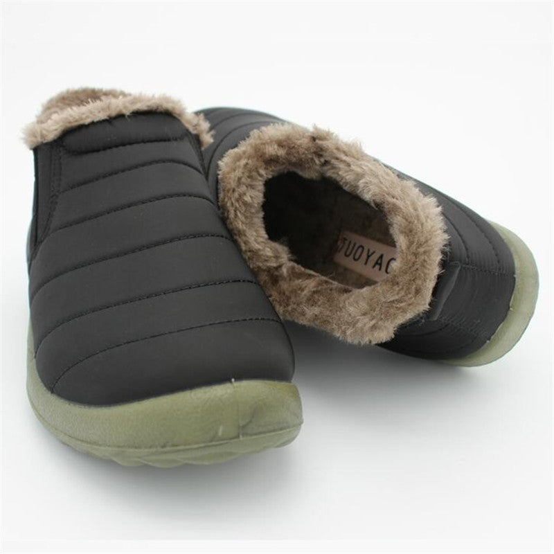 Men Waterproof Slip-Resistant Flat Ankle Boots - men shoes - 99fab.com