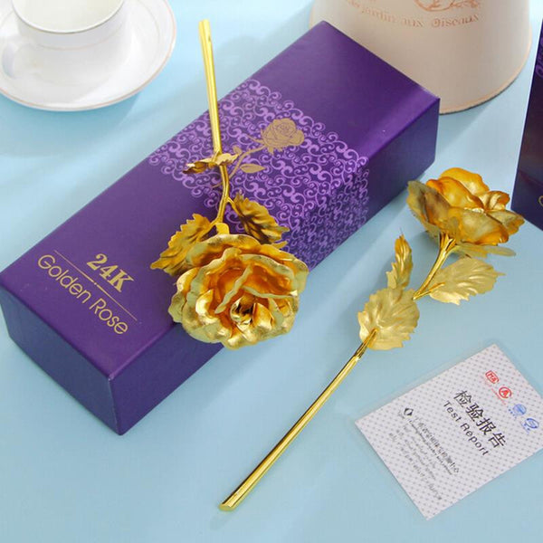 24k Gold Foil Rose - With Box - women accessories - 99fab.com