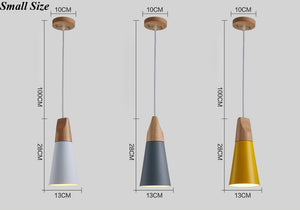 Modern Wood Pendant Lights LED Hanglamp Colorful Pendant Lamps lamparas - decor - 99fab.com