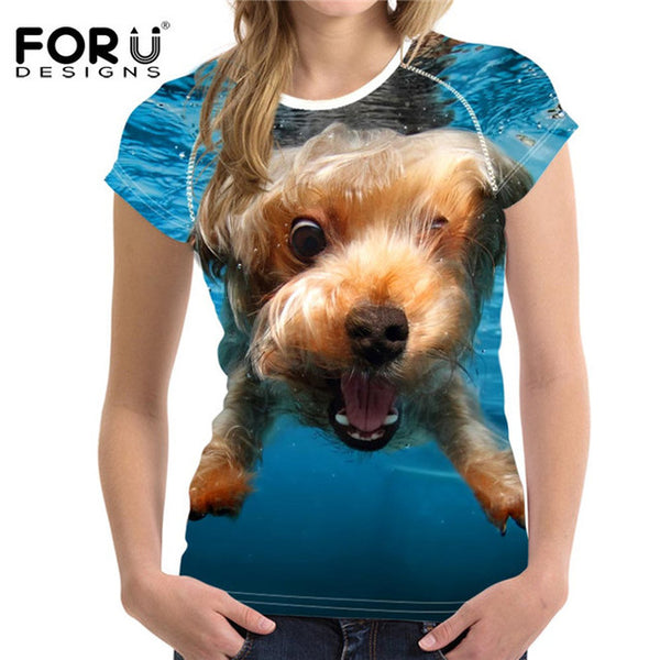 YourPet 3D printed T-shirts for Women - women clothing - 99fab.com