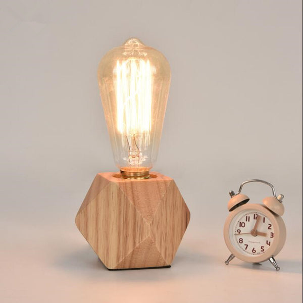 Modern LED wood desk table lamp
