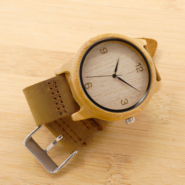 BOBO BIRD  Women Casual Antique Round Wooden Watch With Leather Strap - women watches - 99fab.com
