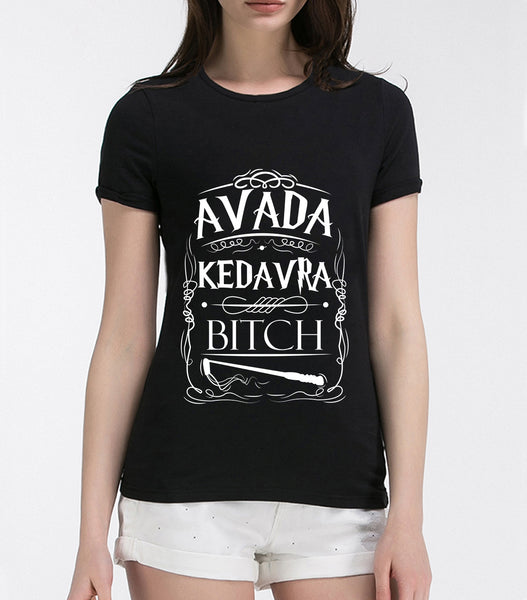 Kedavra letters printed female t-shirt - women clothing - 99fab.com