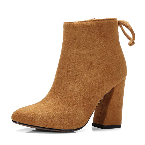 Flock Ankle Boots