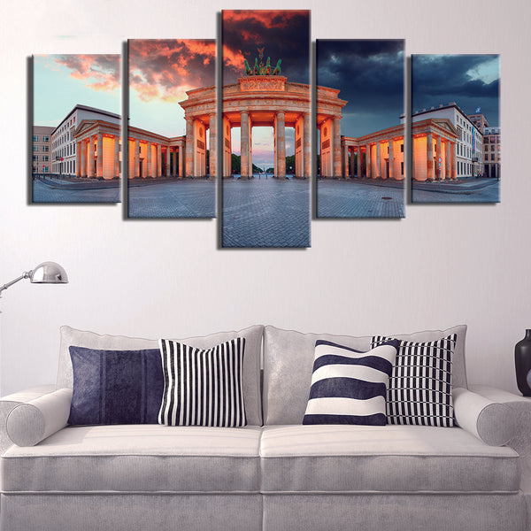 5 Panel Germany Berlin Brandenburg Gate canvas Frame - wall canvas - 99fab.com