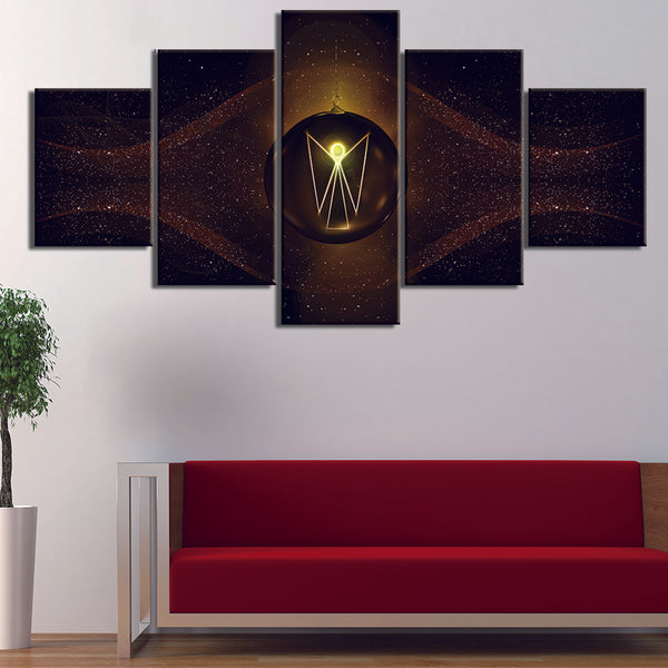 HD Printed Wall Modular 5 Panel Angel Wings - wall art - 99fab.com