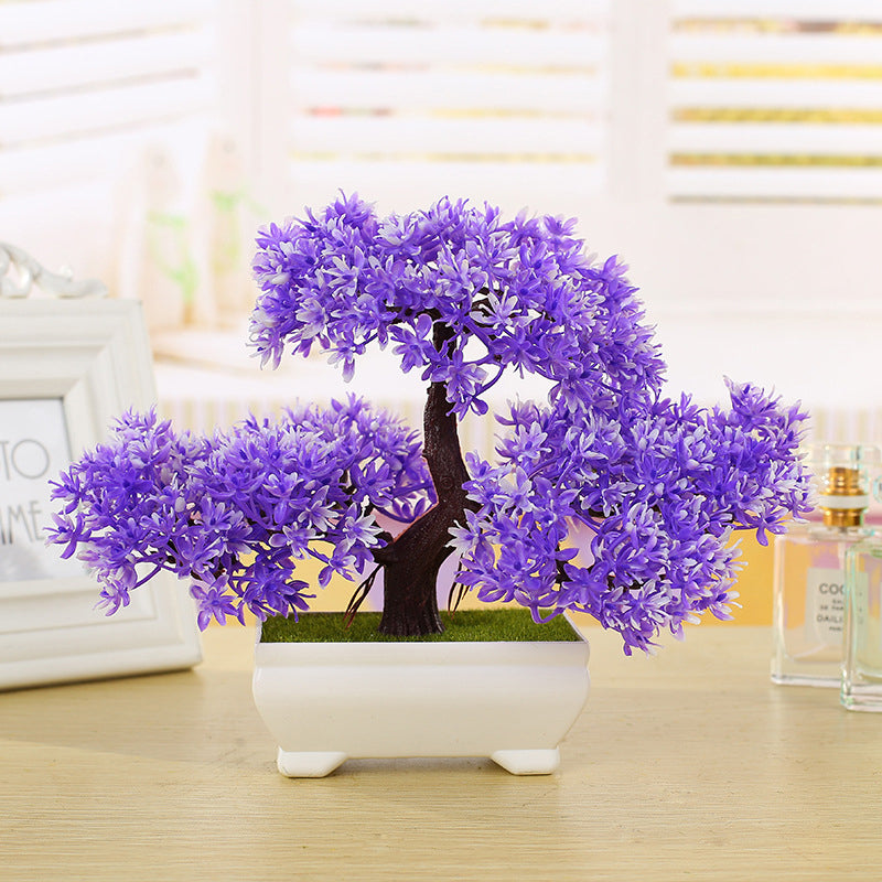 Platic Artificial Plants Ceramics Bonsai Tree with Pot - decor - 99fab.com