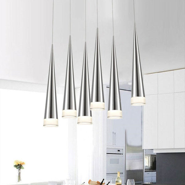 Simple led Pendant Lights Modern Aluminum Hand Lighting Conical Pendant Lamps