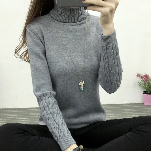 Turtleneck Long Sleeve Pullovers