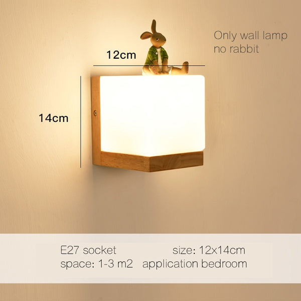 Modern Wood Wall Lights For Bedroom Hallway Wand lamp sconce vintage lamp