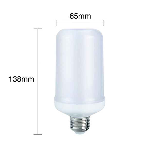 LED Flame Effect Flickering Fire Light Bulb with Gravity Sensor Candelabra Base E12 - 99FAB LED Flame Effect Bulb - 99fab.com