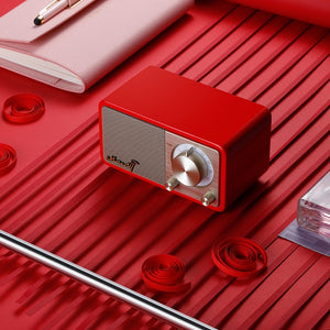 MOZART High quality mini bluetooth wireless speaker with radio - Red