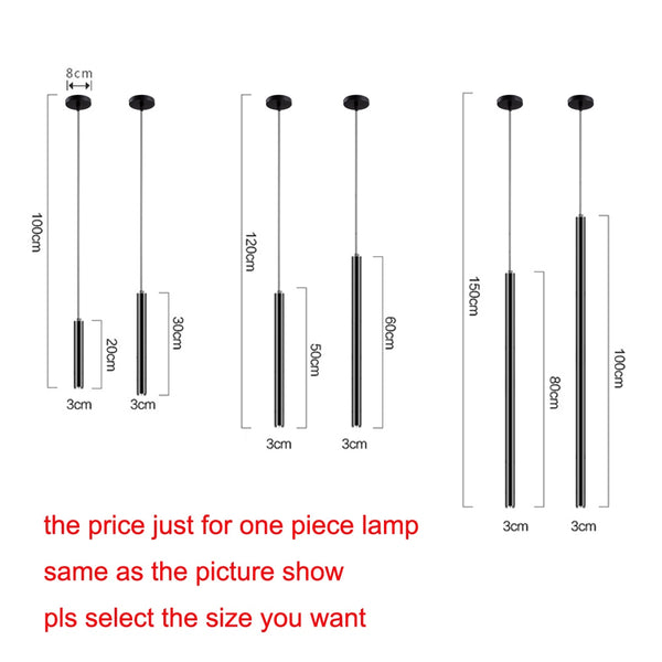 Simple Cylindrical 1 pcs LED Pendant Lights 3W Nordic Bar Indoor Lighting Luminaire