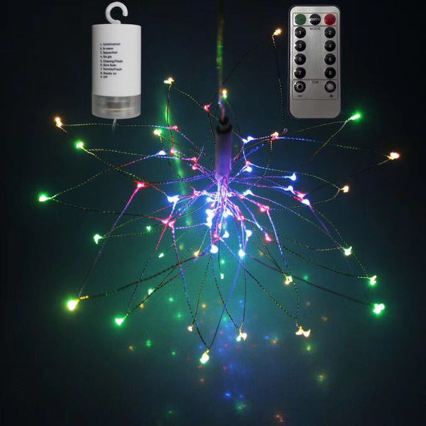 LED String DIY Foldable Bouquet Firework Garland Christmas Fairy Lights