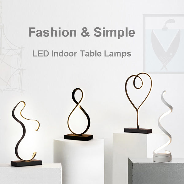 Modern LED Table Lamps Indoor Decoration Desk Lights Study Lamp Nordic