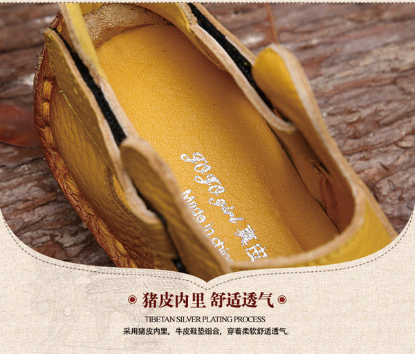 2017 Summer New Soft Bottom Flat Genuine Leather Women Shoes - women shoes - 99fab.com