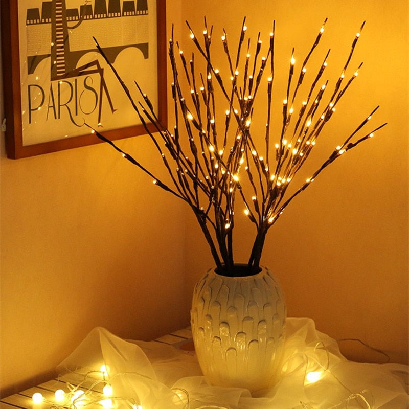 Twig Tree 20 Bulbs LED Willow Branch Lamp - decor - 99fab.com