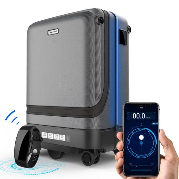 Smart suitcase trolleys automatically follow luggage
