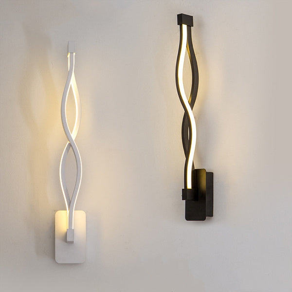 Nordic Wave Design Sconce Led Wall Lamp Indoor Loft Bar Wall Light