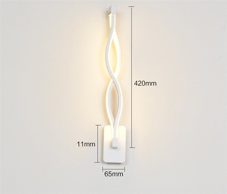 Nordic Wave Design Sconce Led Wall Lamp Indoor Loft Bar Wall Light - wall lamp - 99fab.com