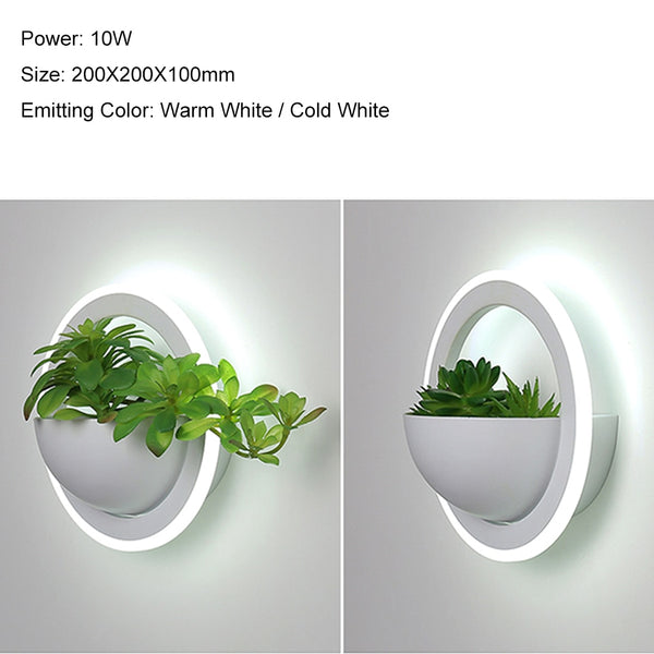 Creative Modern wall lights plant sconce acrylic Nordic Indoor LED lamp