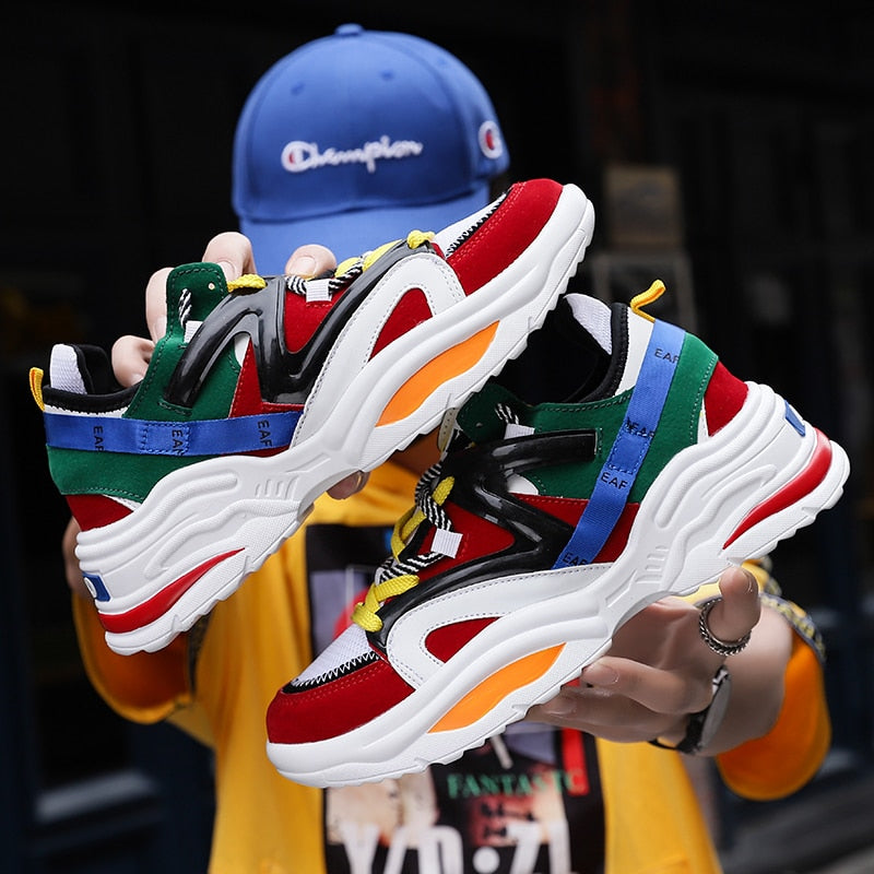 2019 Harajuku Autumn Vintage Sneakers Men Breathable Mesh Casual Shoes - men shoes - 99fab.com