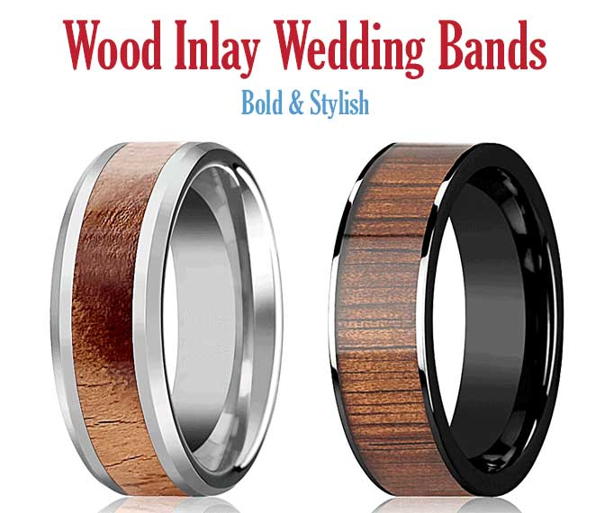 Wood Tungsten Wedding Bands