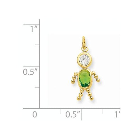 Image of 14k August Boy Birthstone Charm - Pendant - Aydins_Jewelry