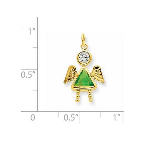 Image of 14k August Girl Angel Birthstone Charm - Pendant - Aydins_Jewelry