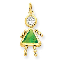 14k August Girl Birthstone Charm - AydinsJewelry