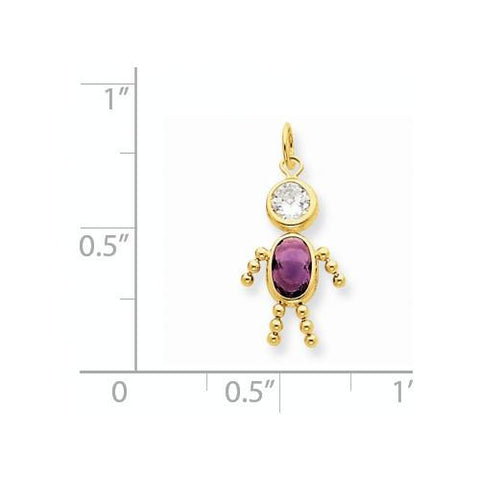 Image of 14k February Boy Birthstone Charm - Pendant - Aydins_Jewelry