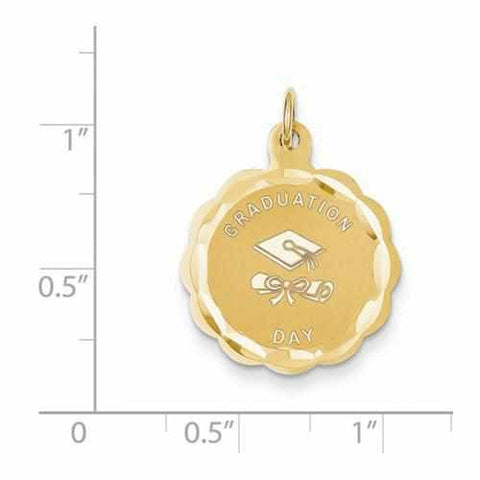 14k Graduation Day Charm - Pendant - Aydins_Jewelry