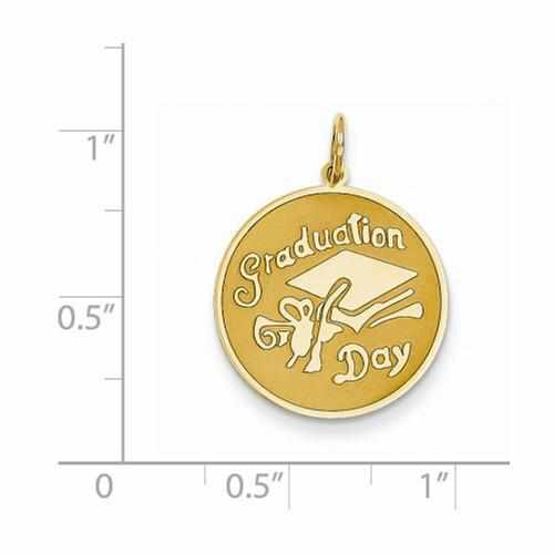 14k Graduation Day Disc Charm - Pendant - Aydins_Jewelry