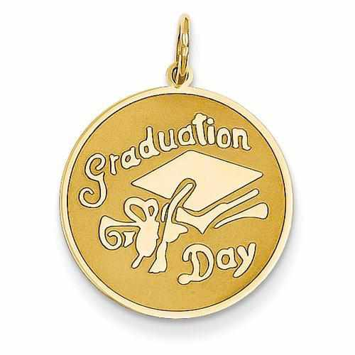 14k Graduation Day Disc Charm - AydinsJewelry