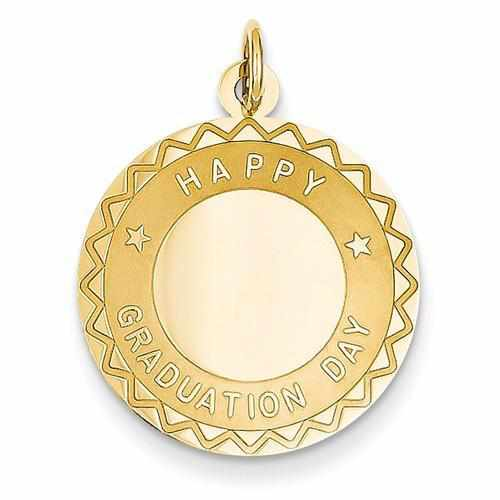 14k Happy Graduation Day Charm - AydinsJewelry