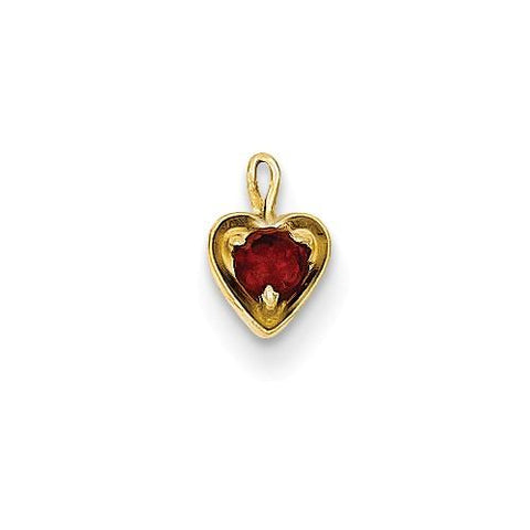 Image of 14ky January Synthetic Birthstone Heart Charm - Pendant - Aydins_Jewelry