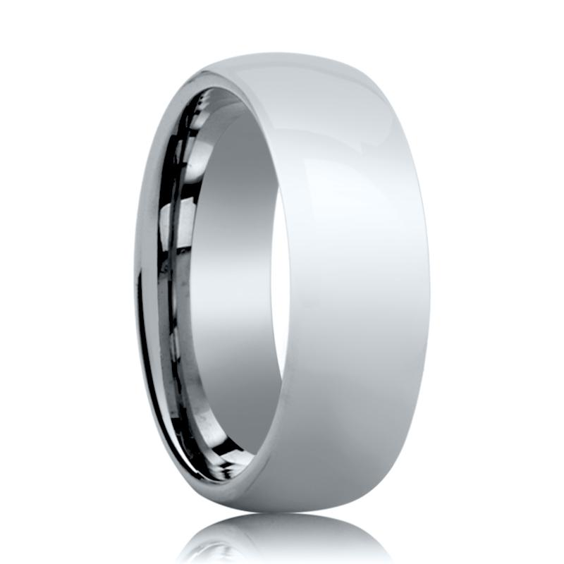 Aydins Tungsten Wedding Ring Shiny Polished Center Domed 4mm, 6mm, 8mm Tungsten Carbide Band - Rings - Aydins_Jewelry