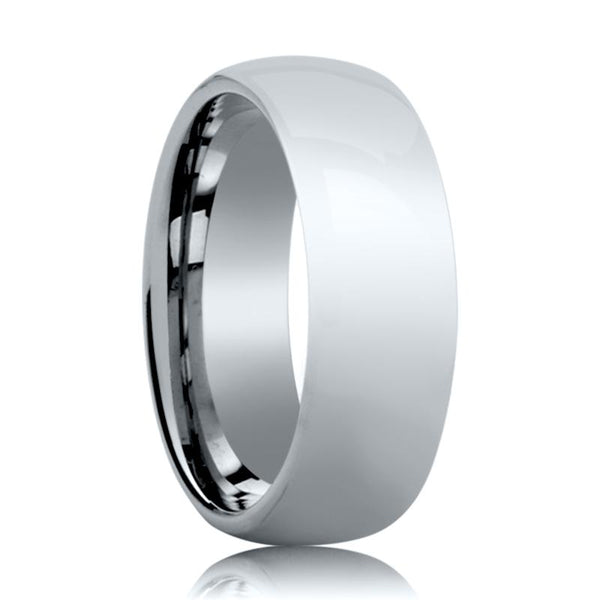 Aydins Tungsten Wedding Ring Shiny Polished Center Domed 4mm, 6mm, 8mm Tungsten Carbide Band - AydinsJewelry