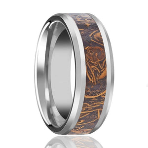 ALSTON Sanskrit Stone Tungsten Wedding Band - Rings - Aydins_Jewelry