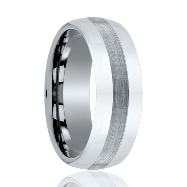 Aydins Men and Womens Tungsten Carbide Wedding Band Brushed & Polished 6mm, 8mm - AydinsJewelry