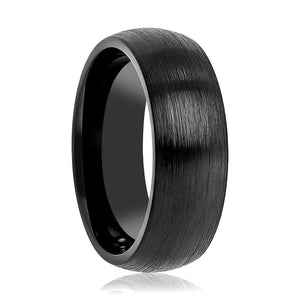 Tungsten Wedding Band - Men and Women - Comfort Fit - Black Brushed Round Domed - Tungsten Carbide Wedding Ring - 2mm - 4mm - 6mm - 8mm - 10mm -12mm - AydinsJewelry
