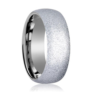 Tungsten Carbide Wedding Ring with Sandblasted Crystalline Finish 2mm, 4mm, 8mm
