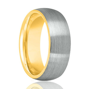 Gold Tungsten Men's Wedding Band - Rings - Aydins_Jewelry
