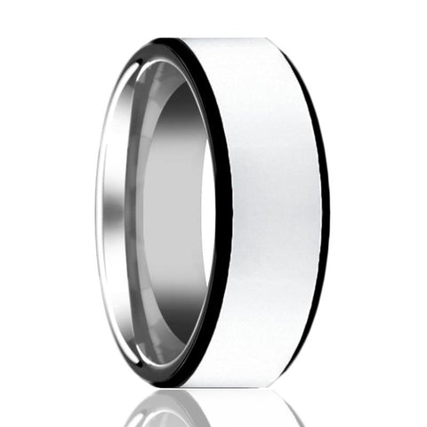 Image of Aydins Mens Tungsten Wedding Band Polished Center w/ Black Edges 8mm Tungsten Carbide Ring - Rings - Aydins_Jewelry
