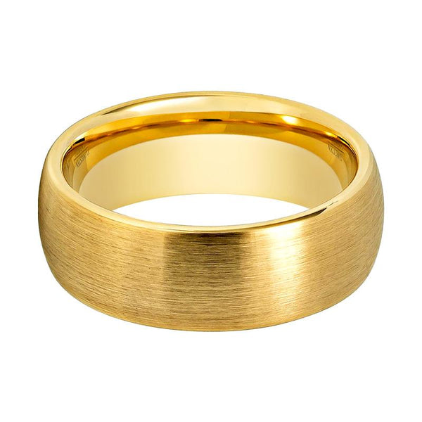 Gold Brushed Men's Wedding Ring - Rings - Aydins_Jewelry